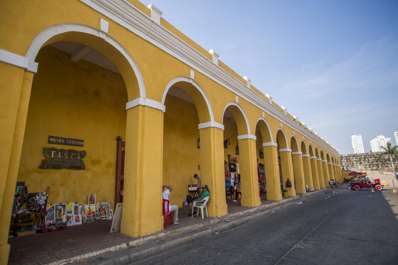 Plaza de Las Bóvedas en Cartagena de Indias