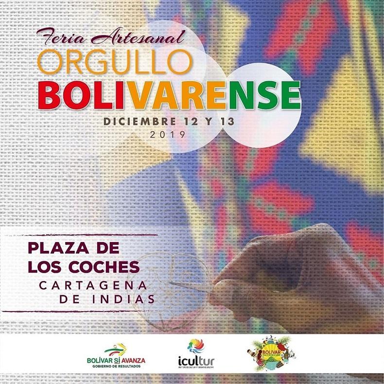 Afiche de Feria Artesanal en Cartagena