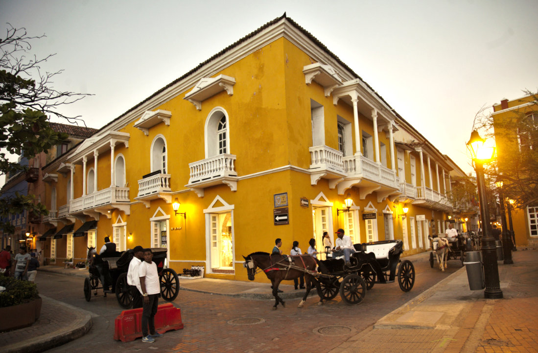 Streets of the Historic Center of Cartagena de Indias
