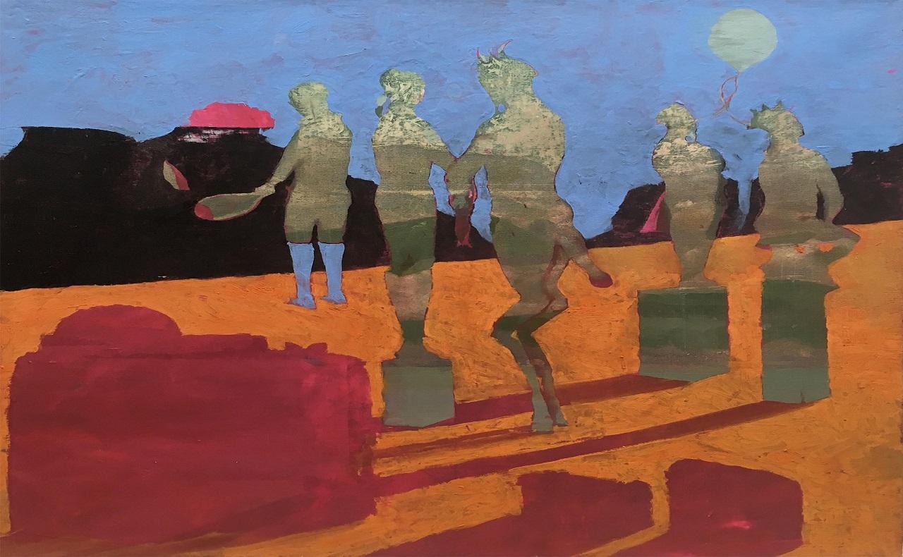 Pintura de Gabriel Silva, imagen para ilustrar nota de exposición de arte en Cartagena en la Galeria NH