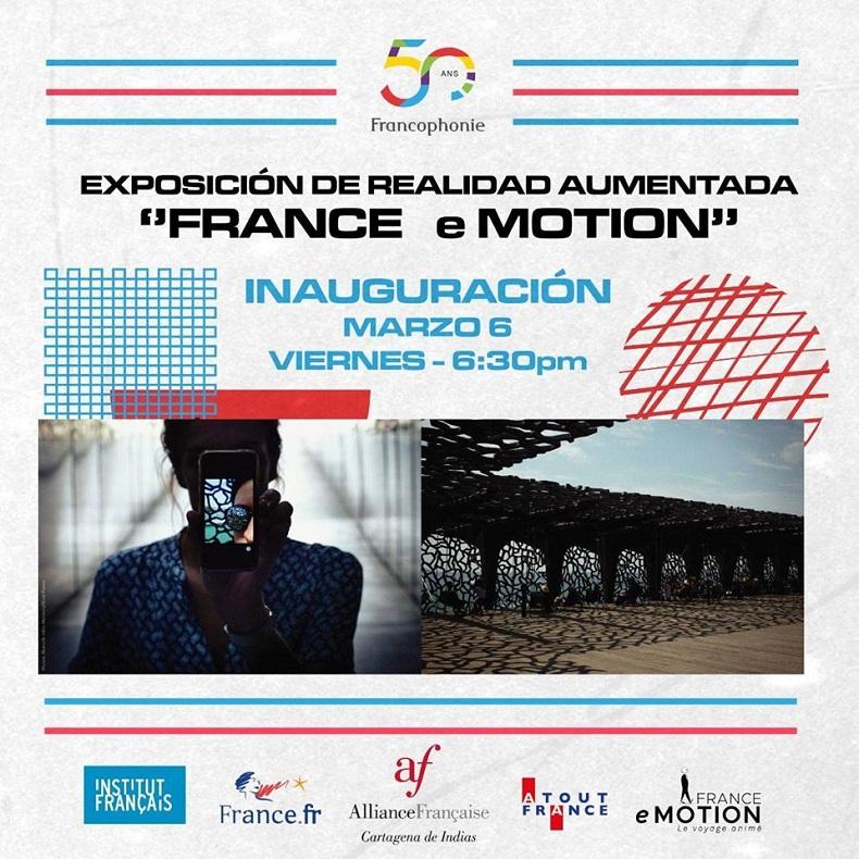 Afiche de evento realidad aumentada Cartagena con la Alianza Francesa