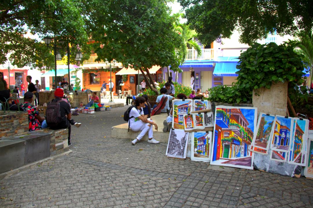 Plaza-de-San-Diego-en-Cartagena