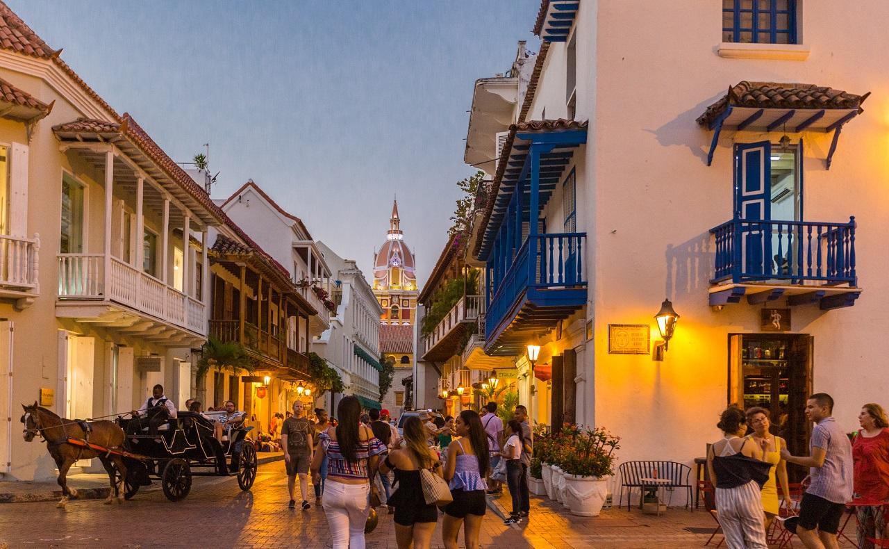 Calle del Centro Histórico de Cartagena, imagen para ilustrar nota de cine en Cartagena