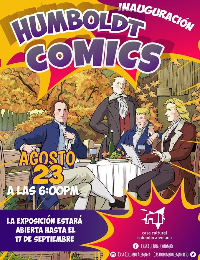 Afiche de evento sobre comics en Cartagena
