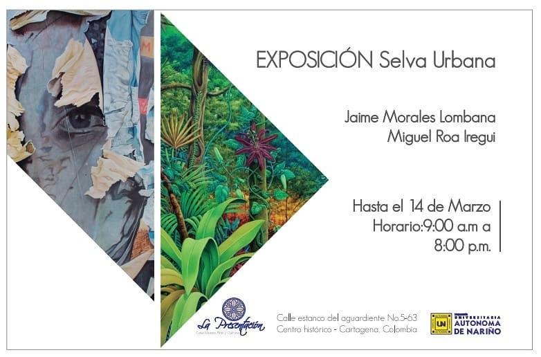 afiche exposición en Cartagena de Indias