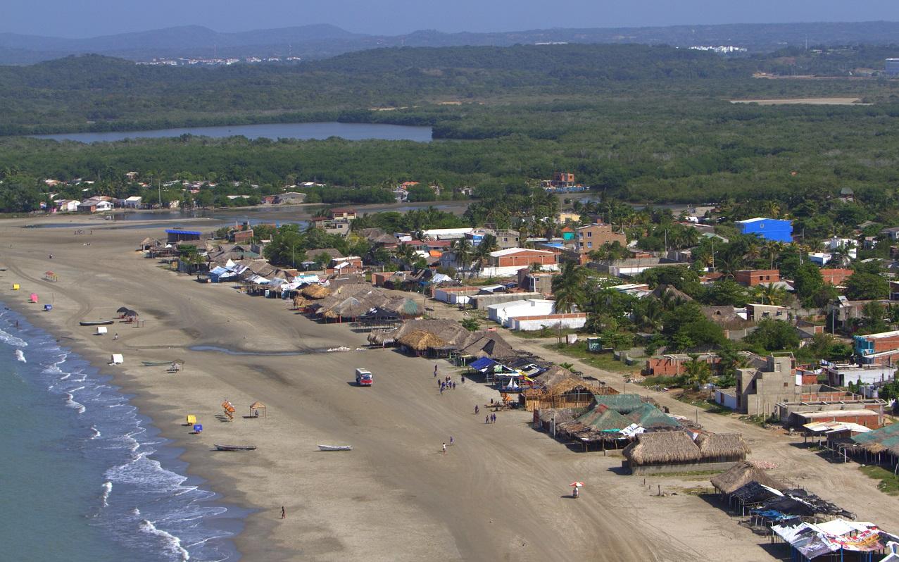 Vista aérea de las playas de La Boquilla en Cartagena de Indias