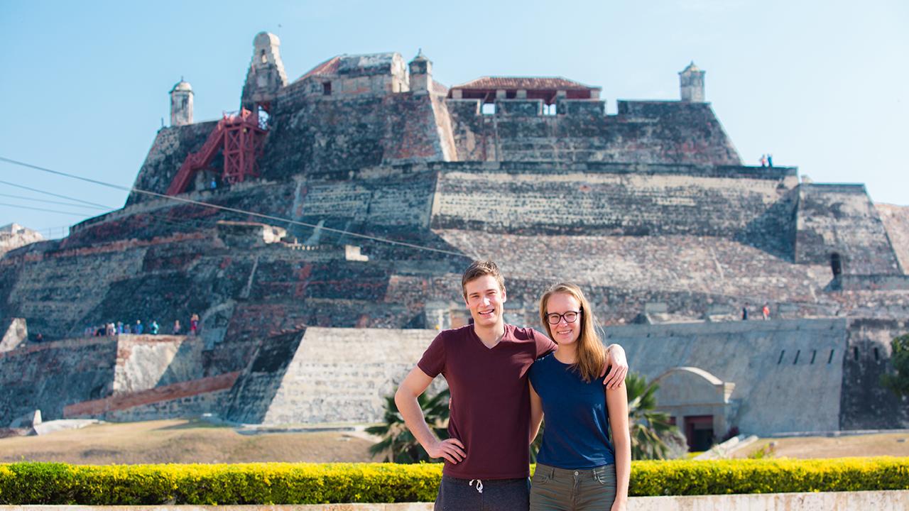 Turistas en Cartagena de Indias