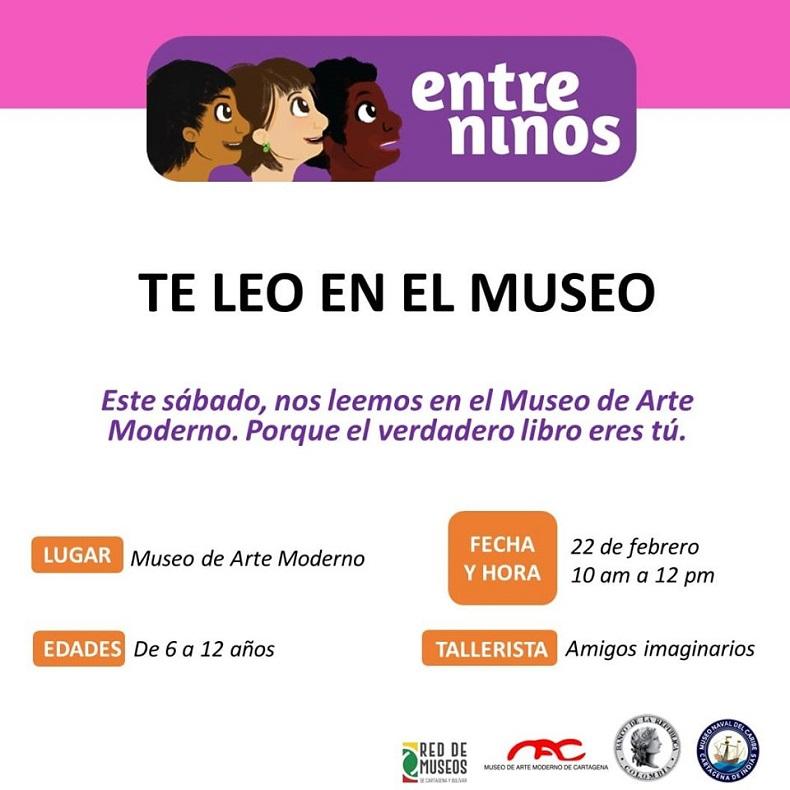 Afiche Taller de Lectura para niños en Cartagena