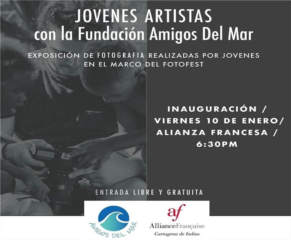 Afiche de exposición de fotografía en la Alianza Francesa de Cartagena