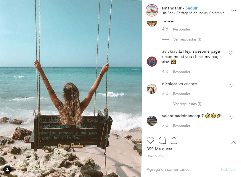 Playa Blanca Barú Cartagena Instagram