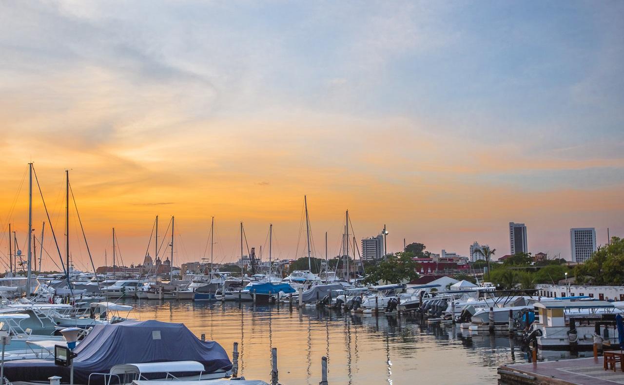 atardecer-en-bahía-de-Cartagena