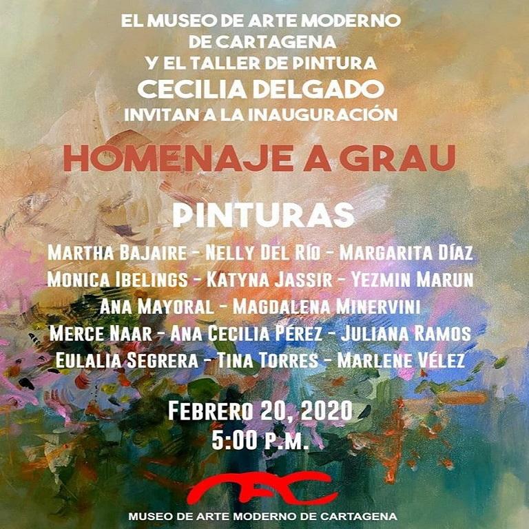 Afiche de exposición en Cartagena de Indias con el Museo de Arte Moderno