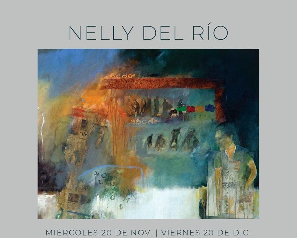 Afiche de la exposición de Nelly del Río en el Museo de Arte Moderno de Cartagena de Indias
