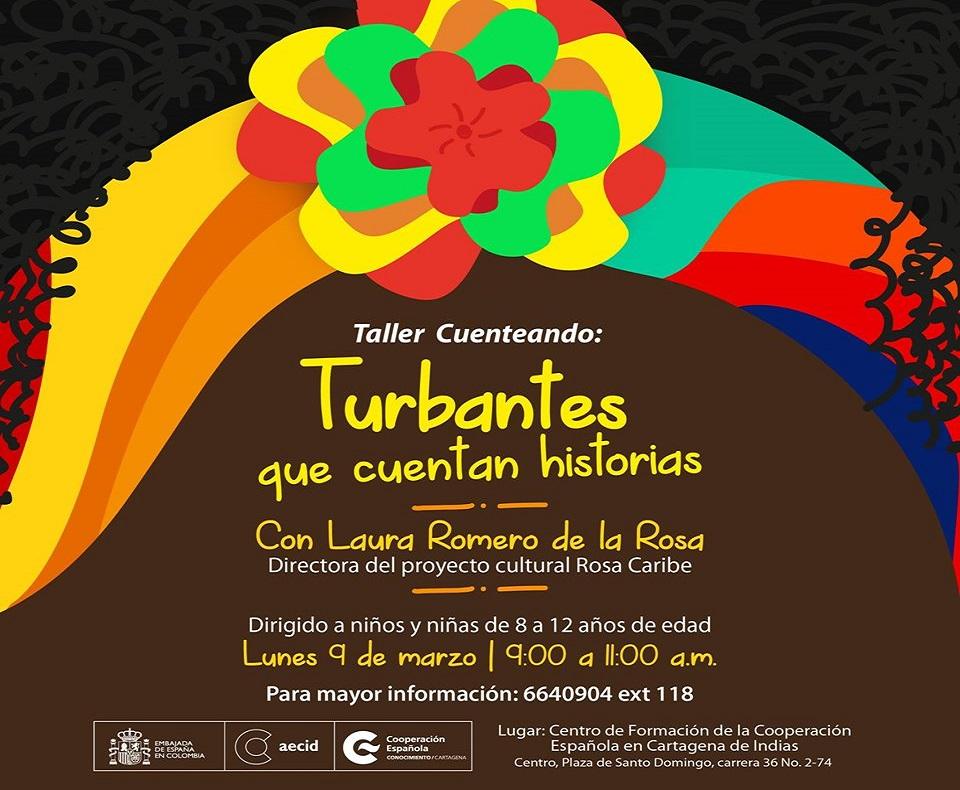 Afiche de taller infantil en la Cooperación Española, imagen para ilustrar nota de Talleres para niños en Cartagena