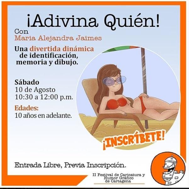 Afiche de talleres culturales en La Presentación Casa Museo de Cartagena de Indias