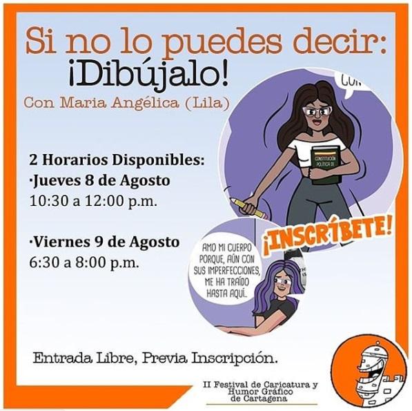 Afiche de talleres culturales en La Presentación de Cartagena de Indias