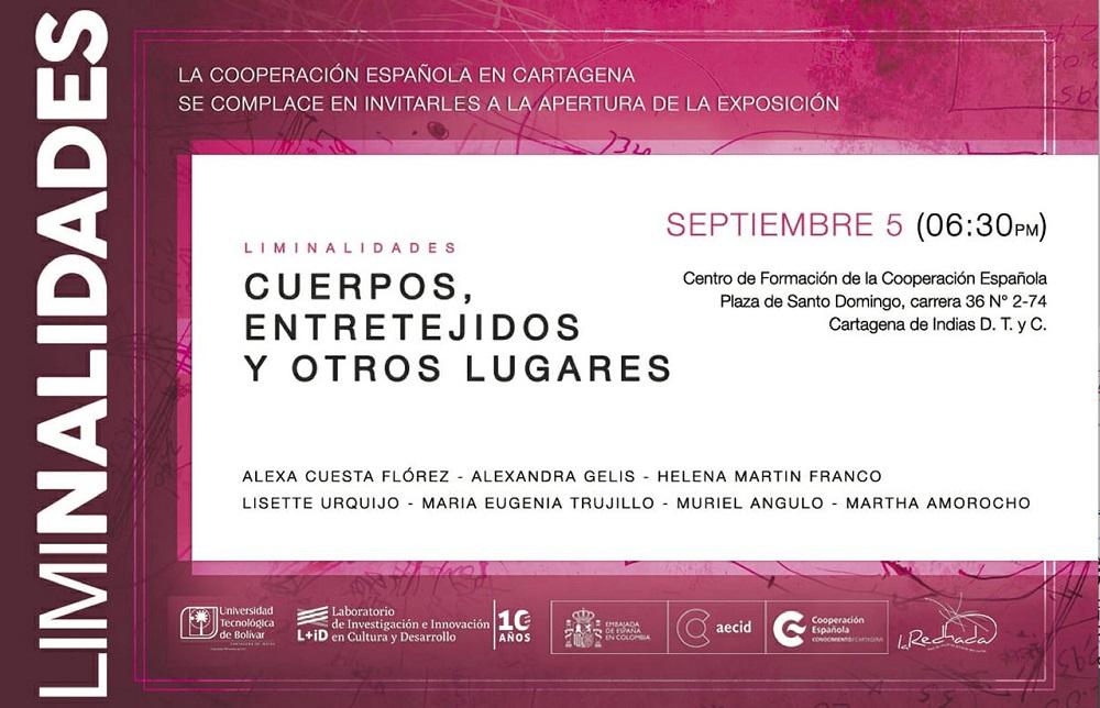 Afiche invitación exposición en la Cooperación Española de Cartagena