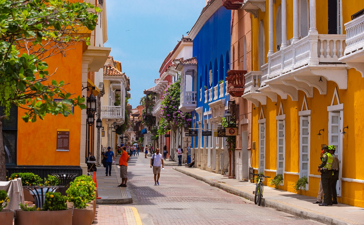 Calle del Centro Histórico de Cartagena para ilustrar nota del cumpleaños de Cartagena de Indias