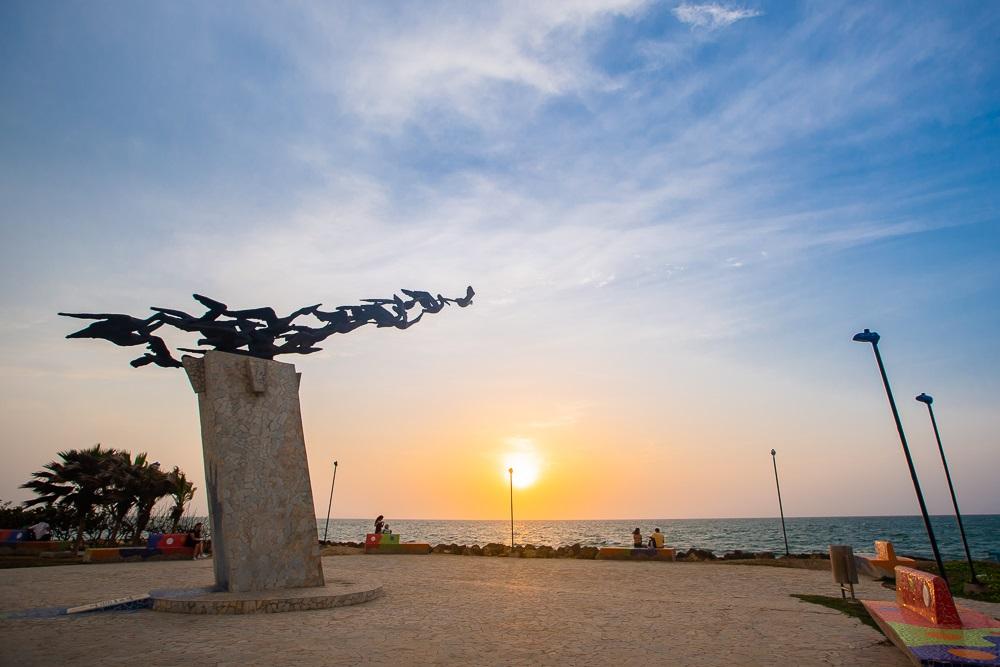 Monumento a los Alcatraces en Cartagena