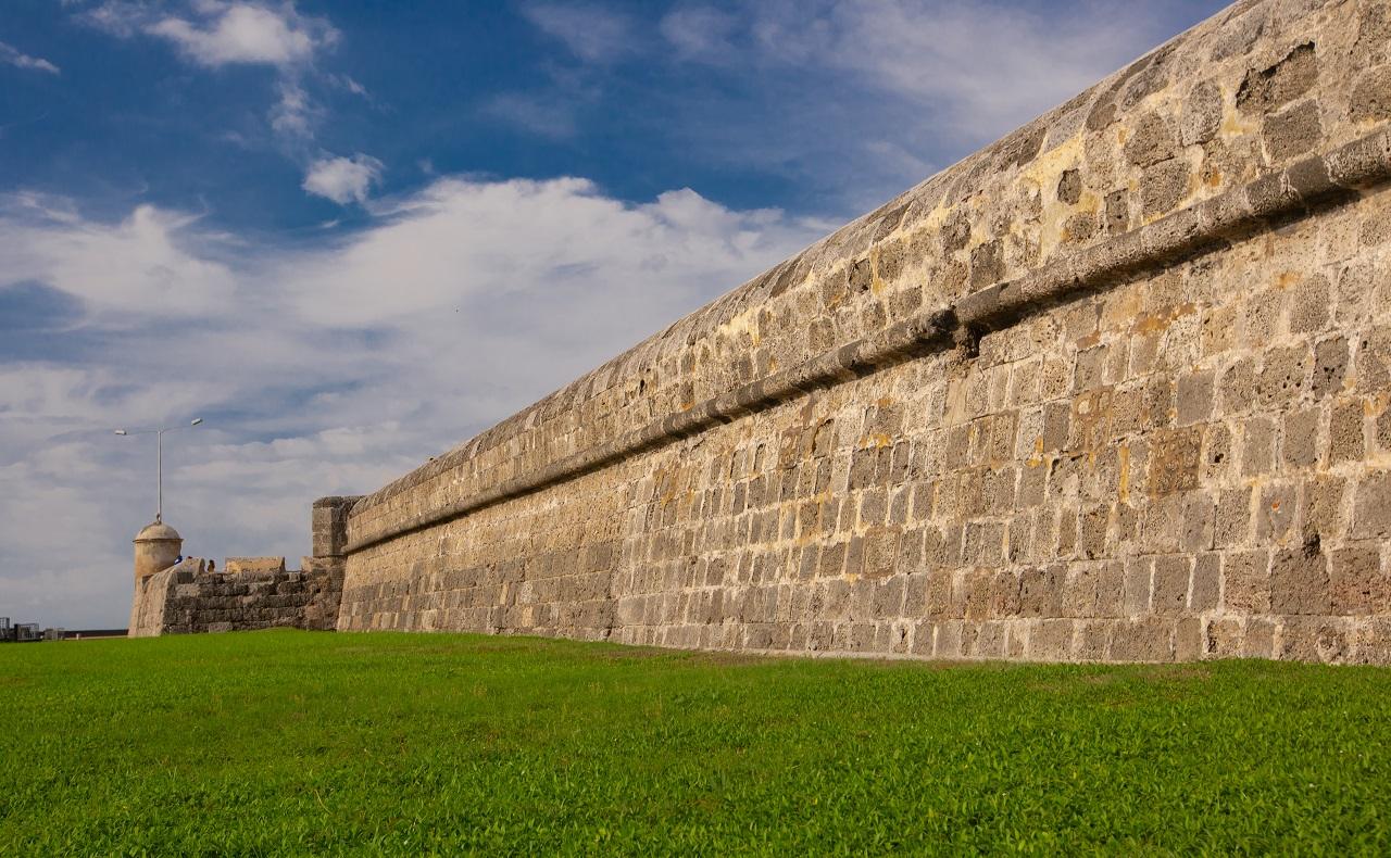 Muralla de Cartagena de Indias imagen para ilustrar nota del cumpleaños 486