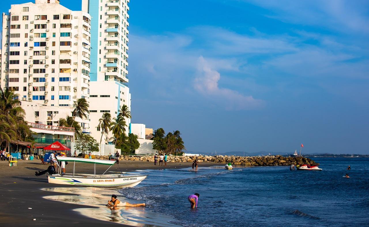 Playa de El Laguito en Cartagena de Indias