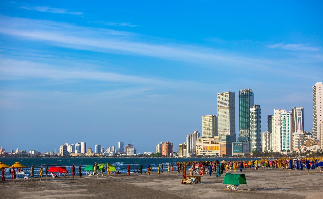 Playa de El Laguito en Cartagena