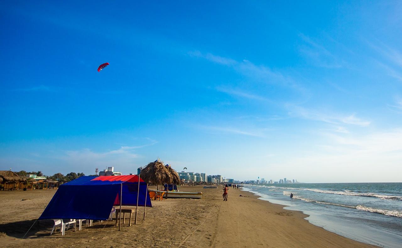 Playa de La Boquilla en Cartagena