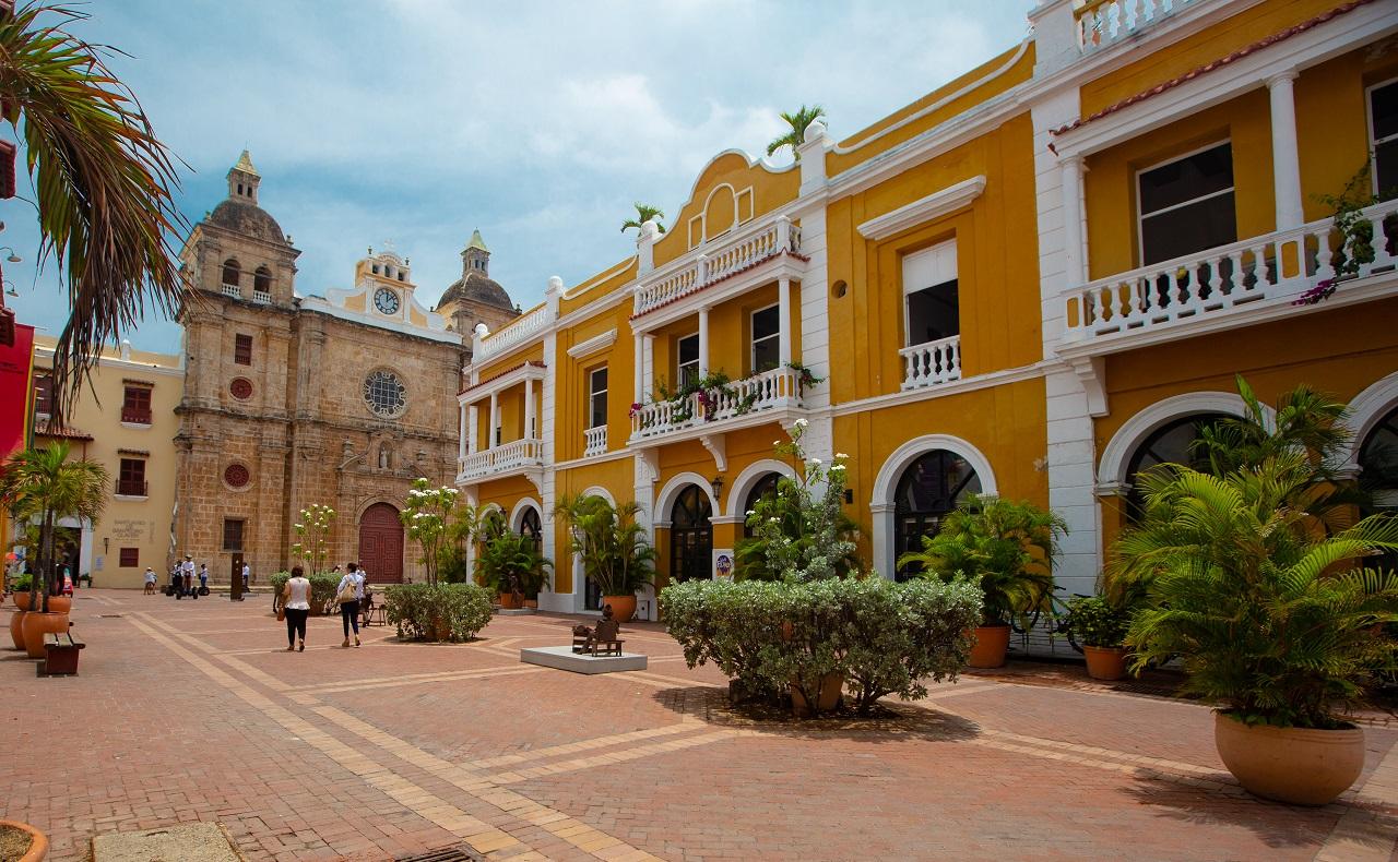 Plaza de San Pedro Claver en Cartagena de Indias imagen para ilustrar nota del cumpleaños 486