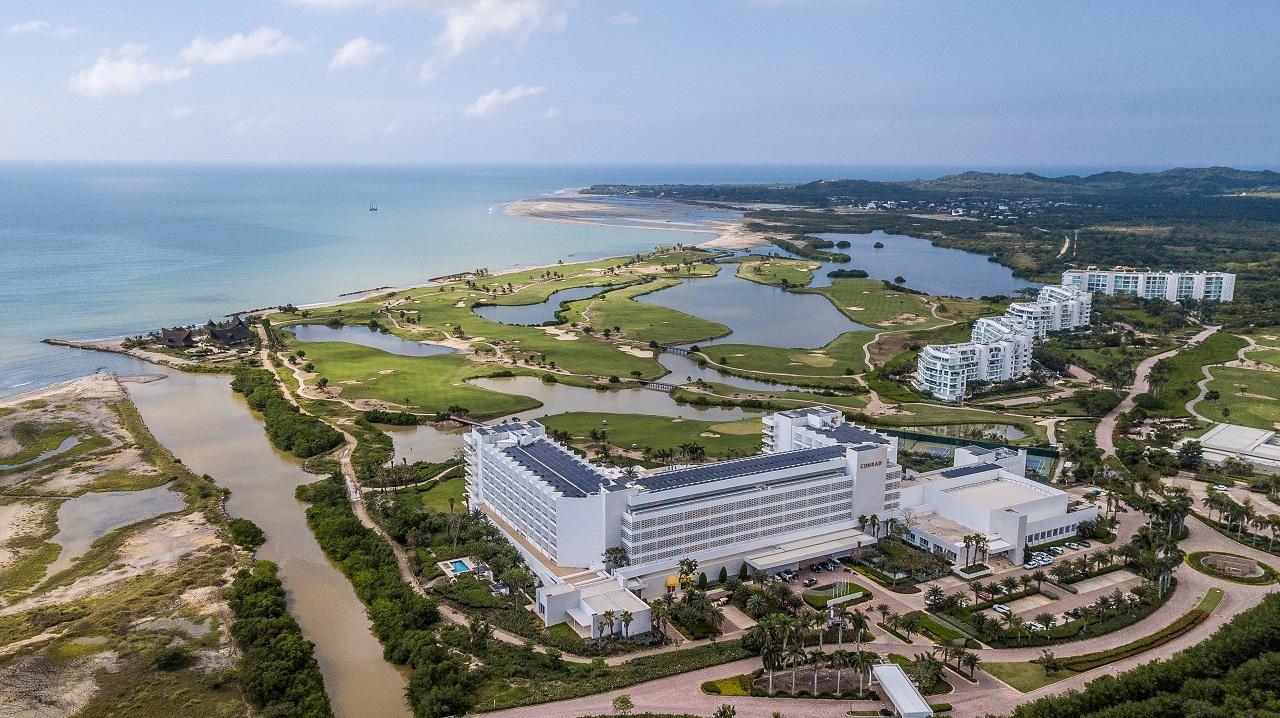 Vista aérea del Hotel Conrad Cartagena