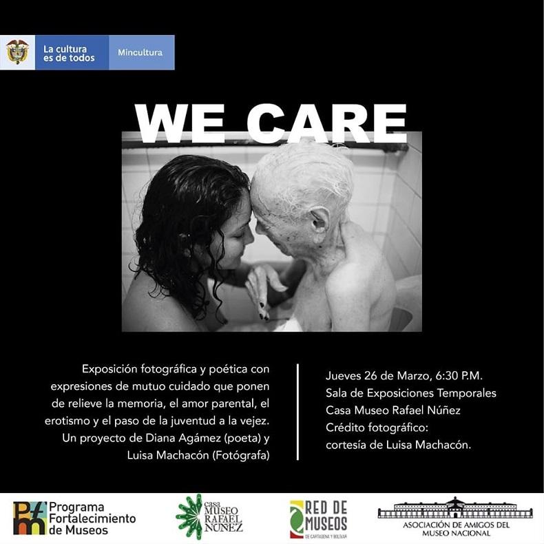 Afiche de exposición en Cartagena en la Casa Museo Rafael Núñez