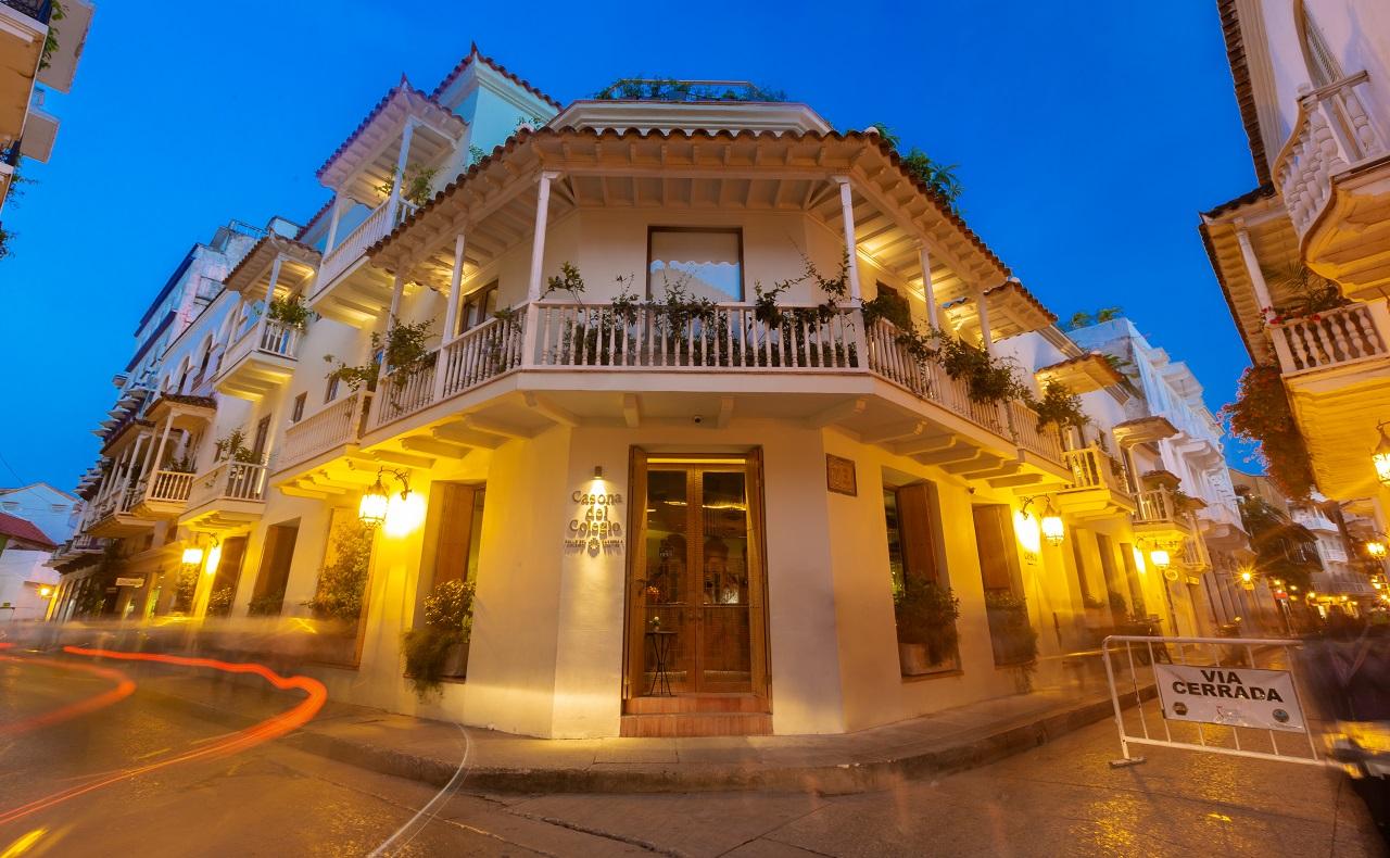 Fachada del Hotel Casona del Colegio, imagen para ilustrar nota de hoteles en Cartagena