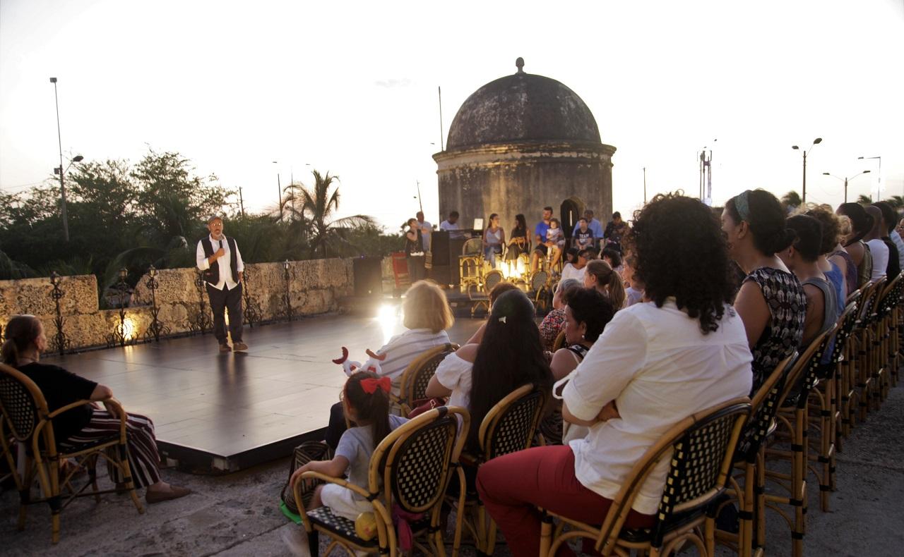 Imagen de evento en baluarte de Cartagena