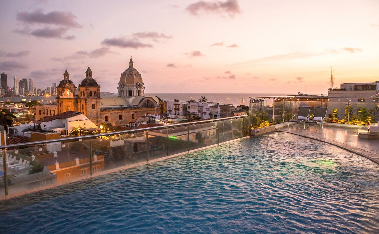 Terraza del Hotel Movich, imagen para ilustrar nota de hoteles en Cartagena