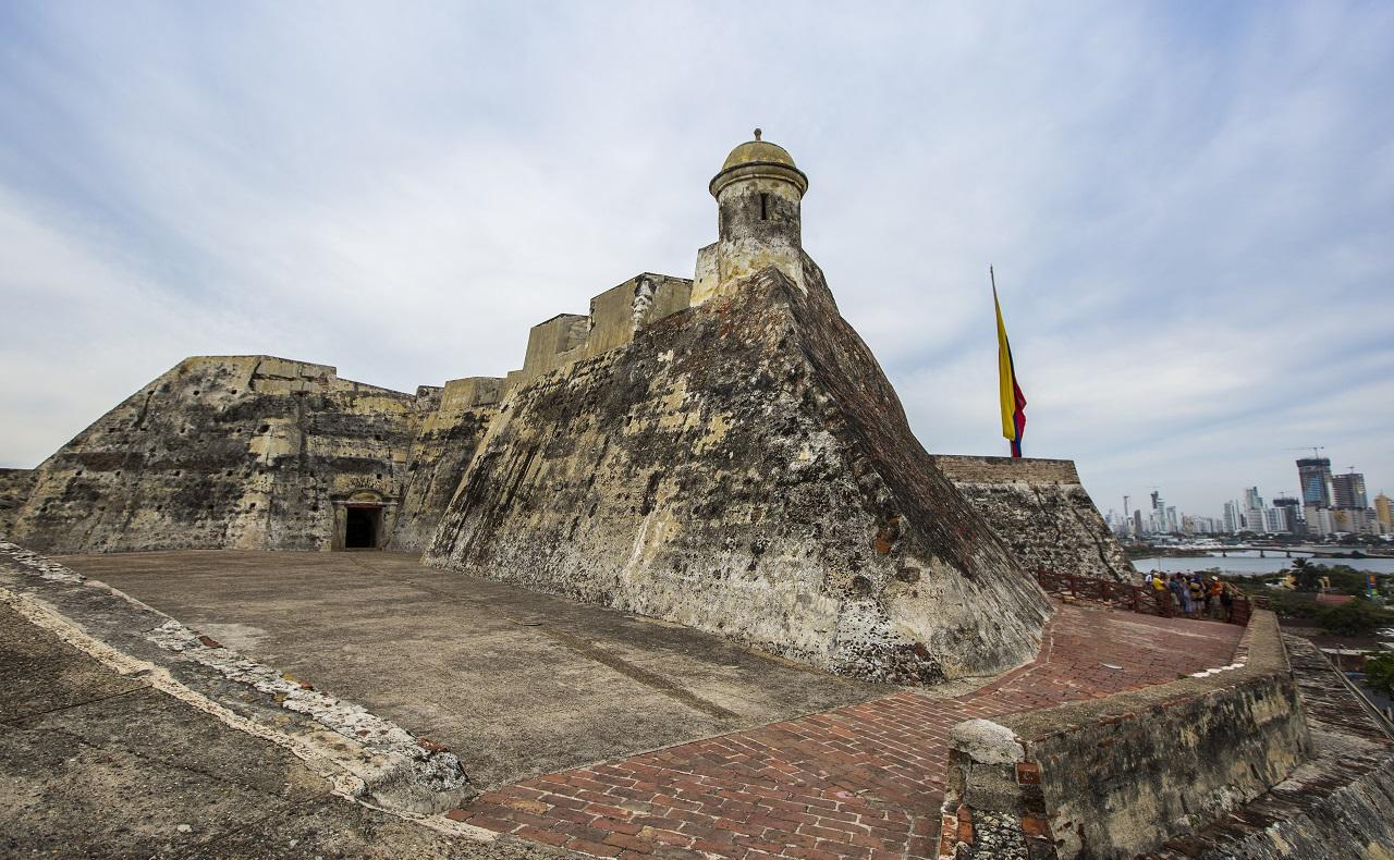 Vista del Castillo de San Felipe para ilustrar nota sobre eventos en las fortificaciones de Cartagena