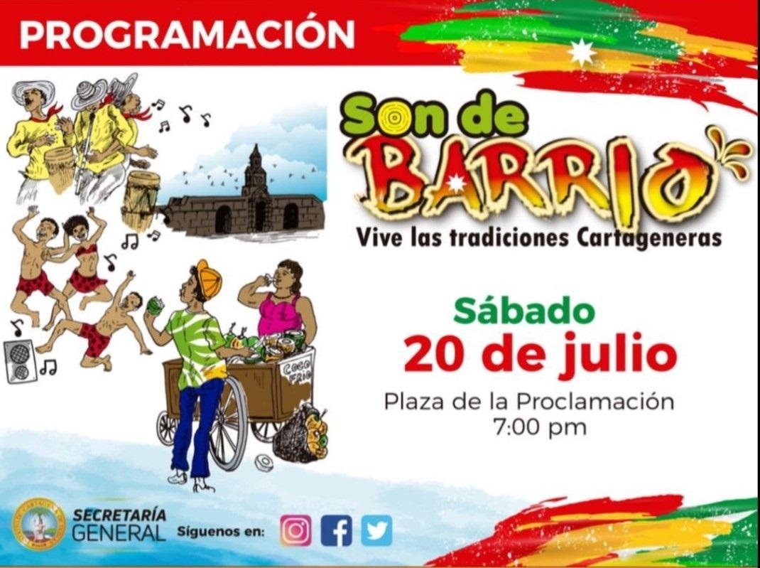 Flyer Son de barrio plaza de la proclamación de Cartagena
