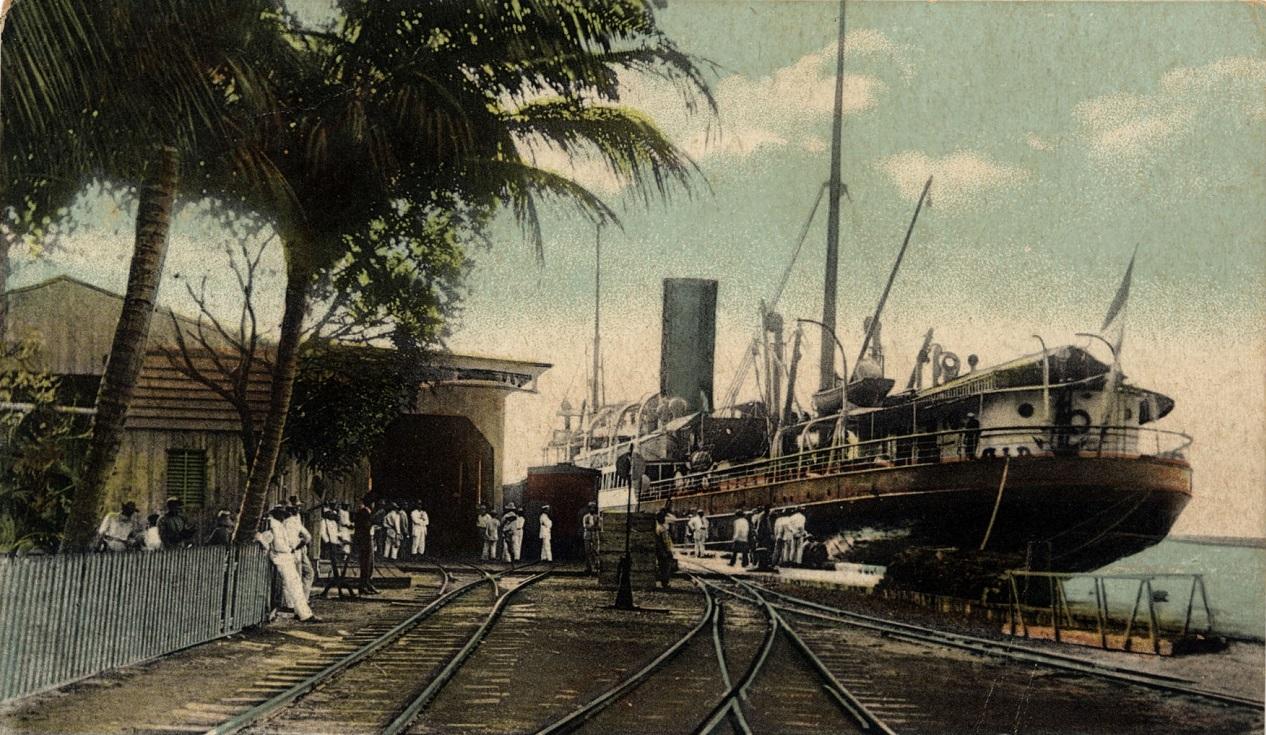 Fotografía antigua de los rieles del tren de Cartagena, foto tomada de la fototeca