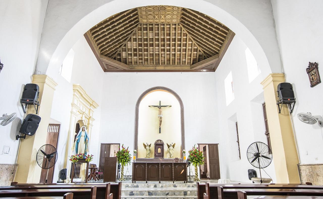 Iglesia de la Tercera Orden, imagen para ilustrar nota sobre los horarios de las iglesias en Cartagena