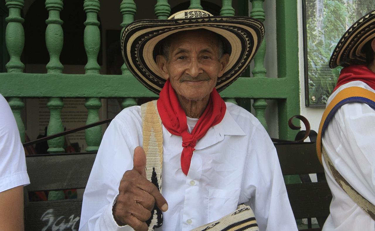 José, famoso Gaitero de San Jacinto Bolívar, cerca de Cartagena de Indias