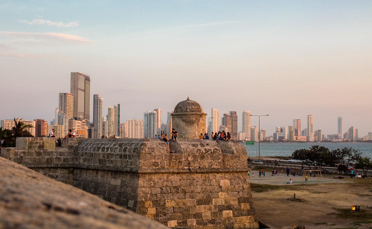 Fortificaciones de Cartagena: Sector del cordón amurallado en el Centro Histórico de Cartagena de Indias