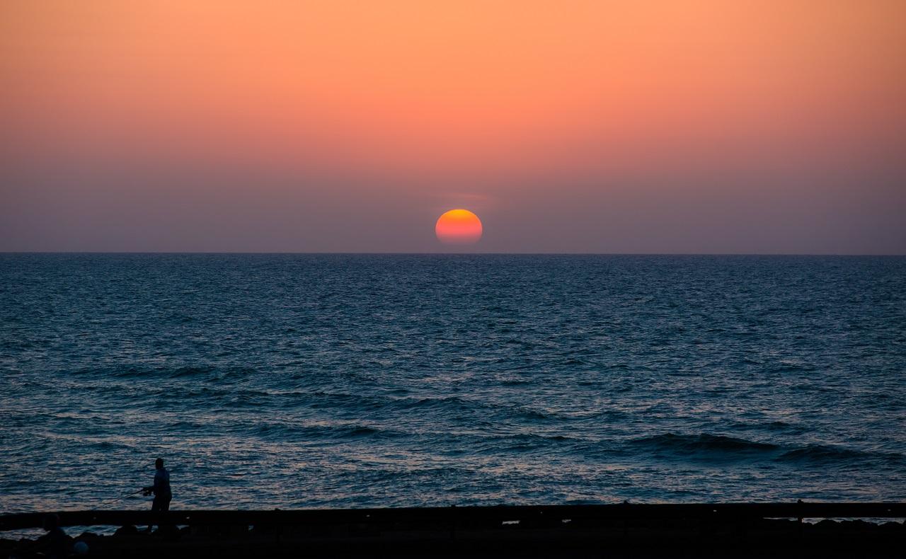 imagen del atardecer en Cartagena de Indias