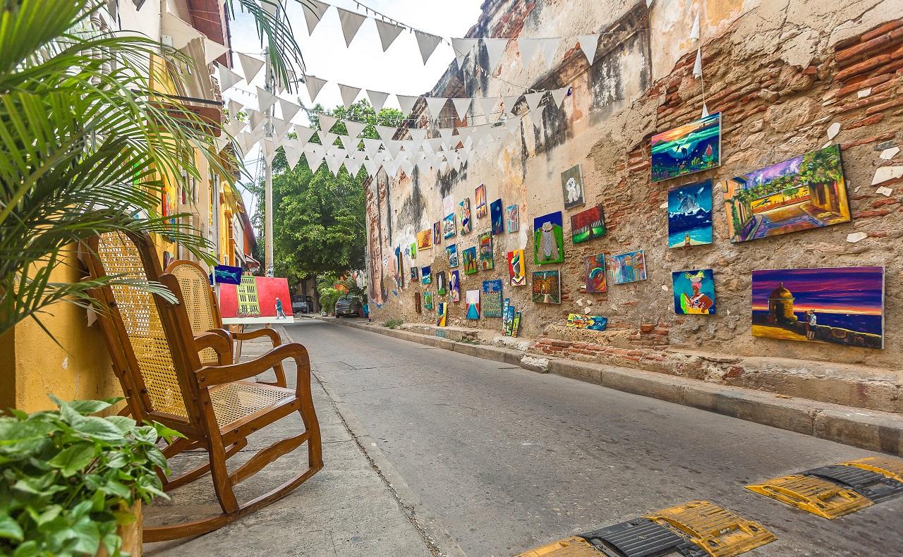 Calle de Getsemaní en Cartagena de Indias