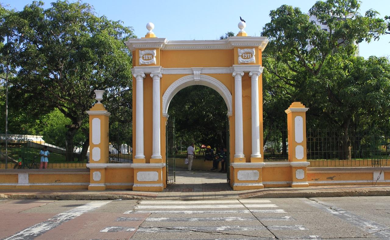 Parque del Centenario en Cartagena de Indias