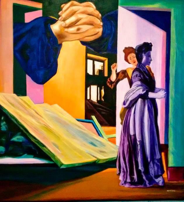 Pintura de la exposición en Cartagena Los colores de mi barrio