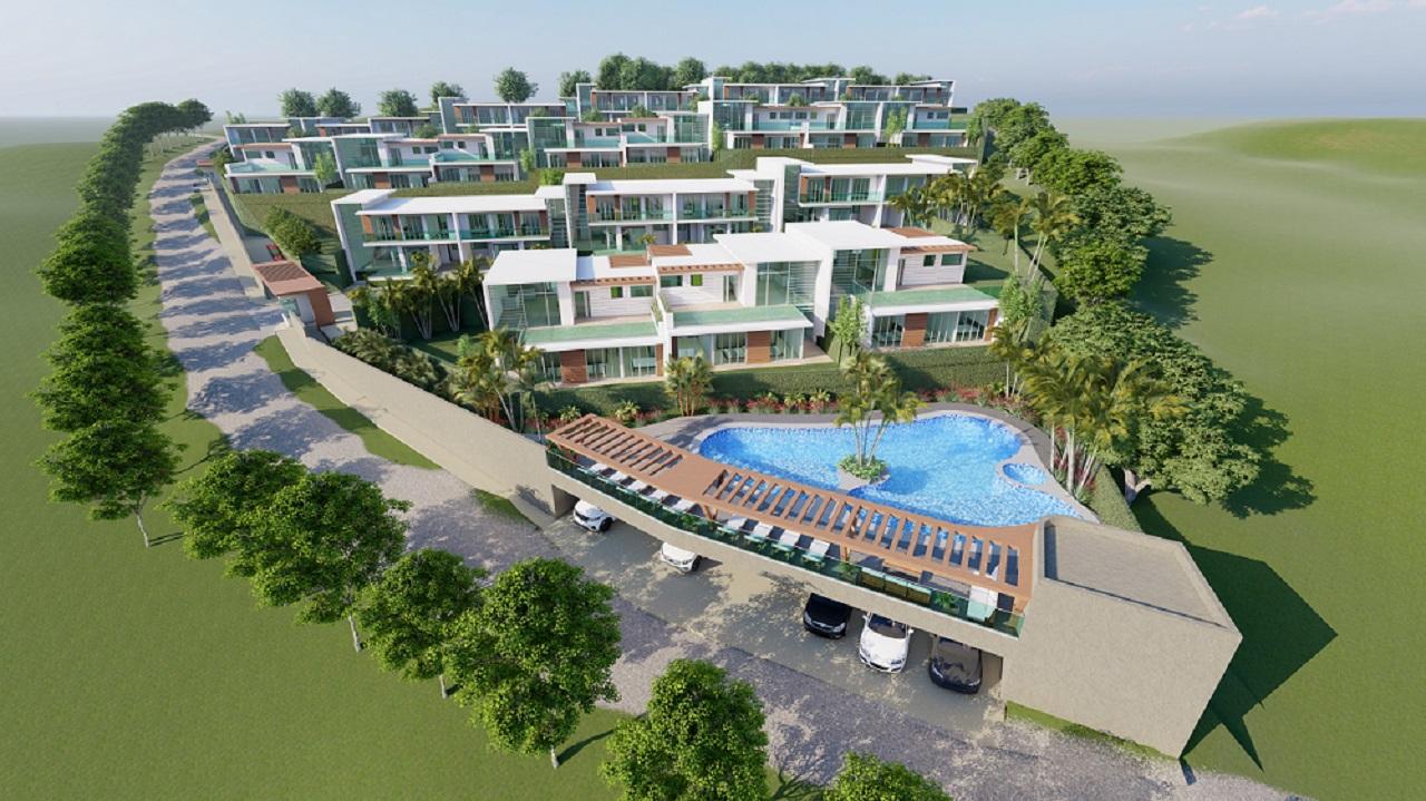 Render vista general Terrazze di Campaña, proyecto en Cartagena de Arvi Group