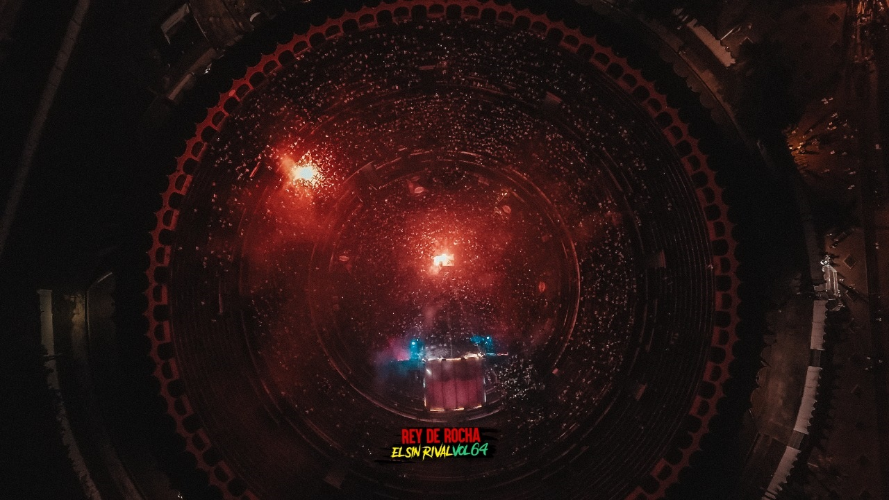 Vista aérea de concierto en la Plaza de Toros de Cartagena, imagen para ilustrar nota sobre picós en Cartagena