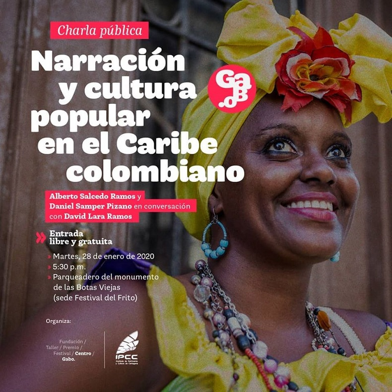 Afiche de charla pública en el marco del Festival del Frito cartagenero 2020