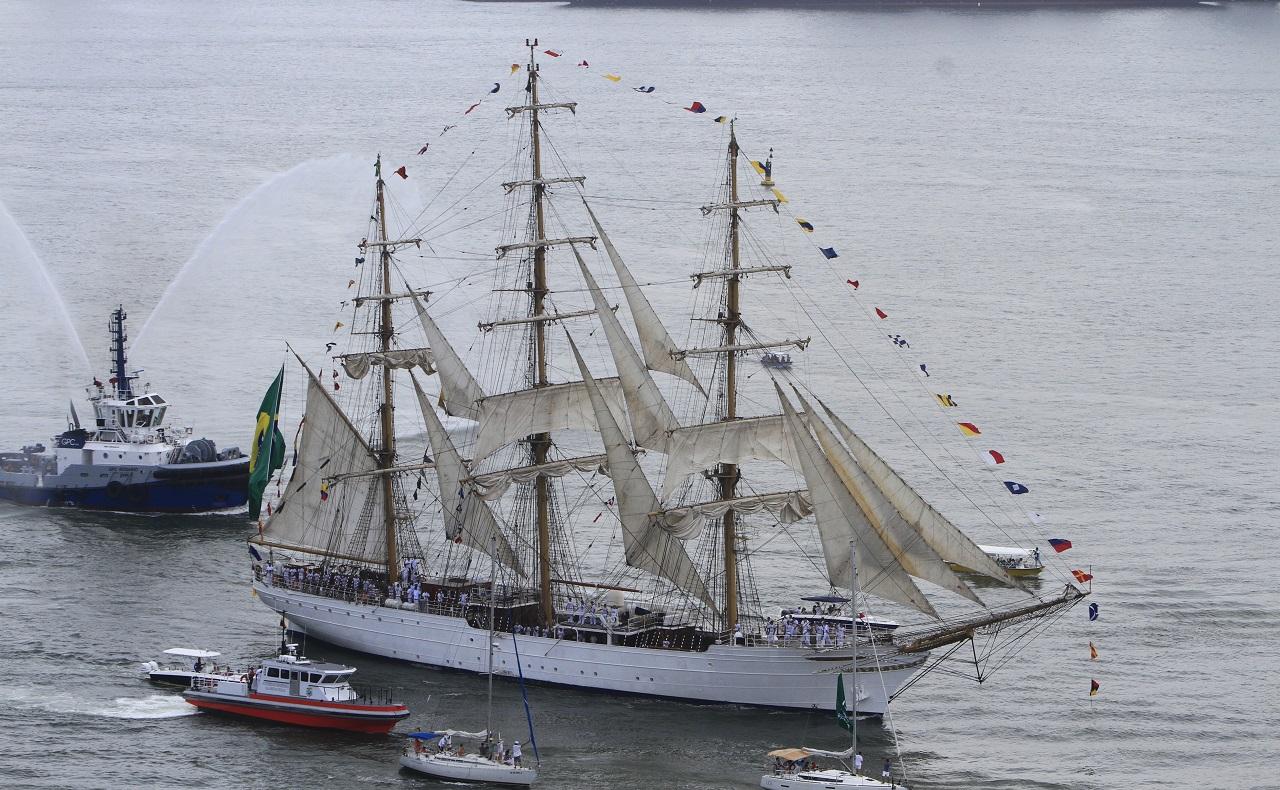 Veleros en Cartagena, velero de la armada brasilera en el Sail Cartagena 2018
