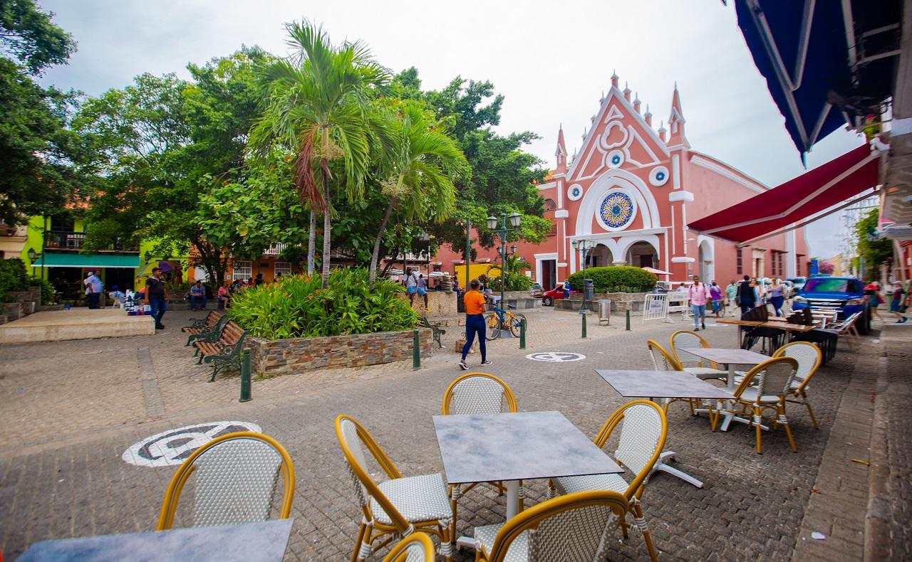 Plaza San Diego, imagen para ilustrar nota sobre plazas de Cartagena