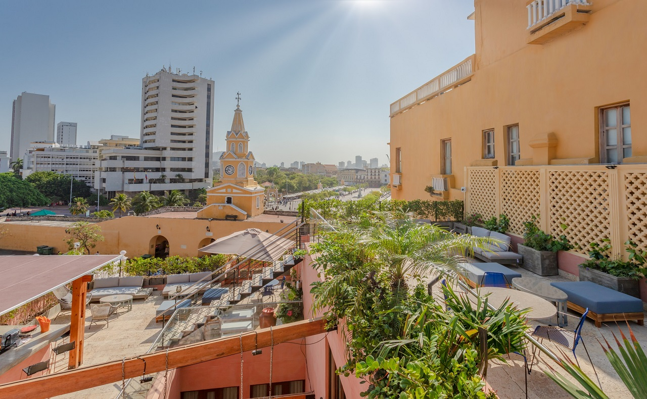 Terraza de La Cata Rooftop en Cartagena de Indias