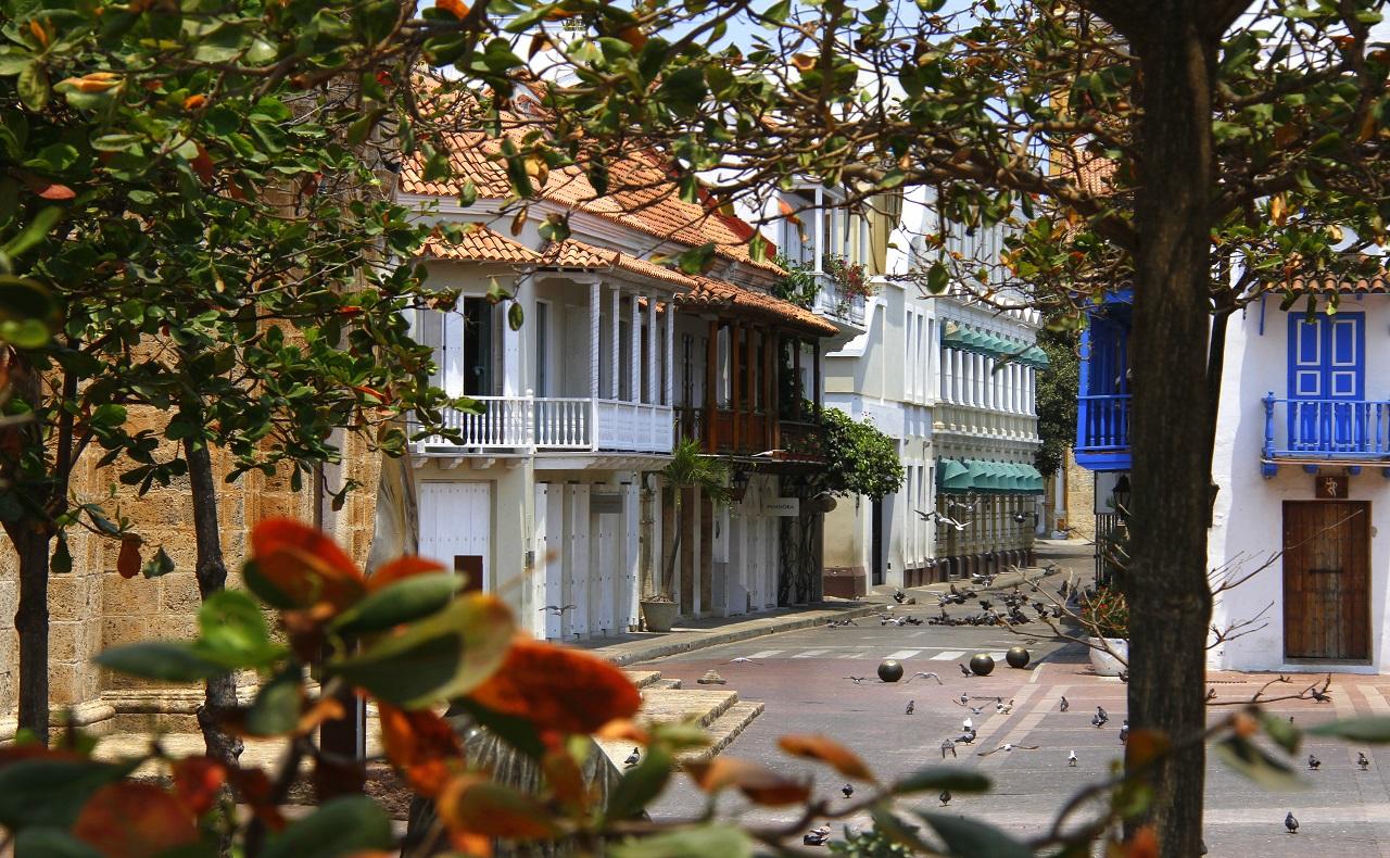 Centro Histórico de Cartagena de Indias en confinamiento obligatorio
